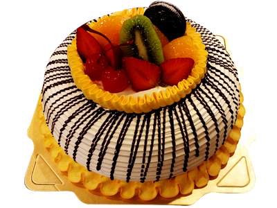 蒙拉克 ( Vanilla Fruit & Strawberry Cake)