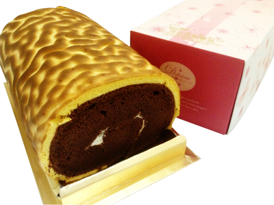 巧克力虎皮蛋糕捲 (Chocolate Tiger Skin Cake Roll)