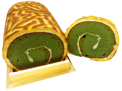 綠茶虎皮蛋糕捲 (Green Tea Tiger Skin Cake)