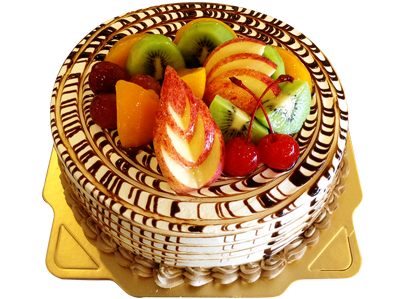 水果巧克力漩渦 (Chocolate Fruit & Pineapple Cake)